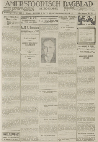 Amersfoortsch Dagblad / De Eemlander 1931-02-12