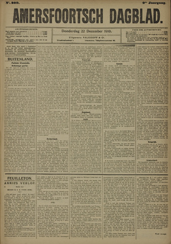 Amersfoortsch Dagblad 1910-12-22