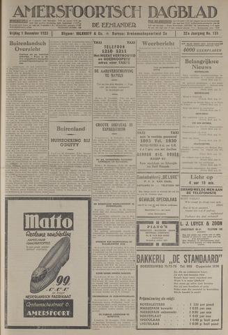 Amersfoortsch Dagblad / De Eemlander 1933-12-01