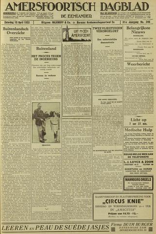 Amersfoortsch Dagblad / De Eemlander 1933-04-15
