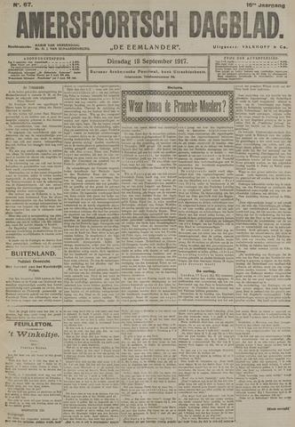 Amersfoortsch Dagblad / De Eemlander 1917-09-18