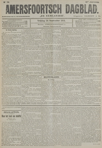 Amersfoortsch Dagblad / De Eemlander 1915-09-24