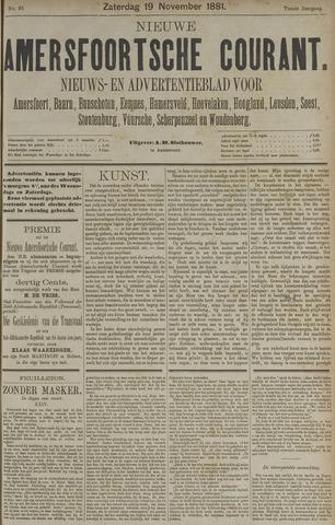 Nieuwe Amersfoortsche Courant 1881-11-19