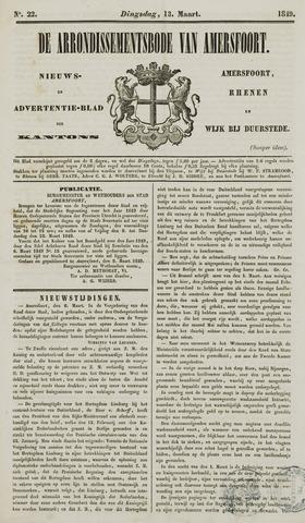 Arrondissementsbode van Amersfoort 1849-03-13