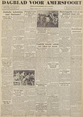Dagblad voor Amersfoort 1947-02-14