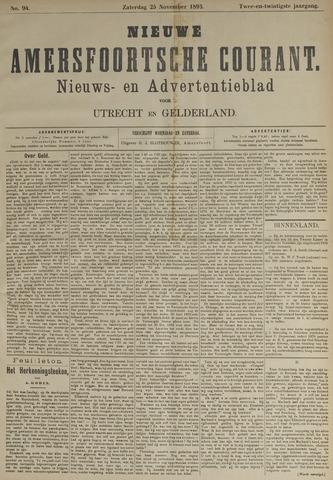 Nieuwe Amersfoortsche Courant 1893-11-25