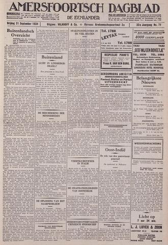 Amersfoortsch Dagblad / De Eemlander 1934-09-21