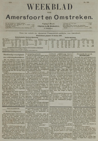 Weekblad voor Amersfoort en Omstreken 1878-03-01