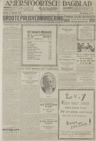 Amersfoortsch Dagblad / De Eemlander 1929-12-21