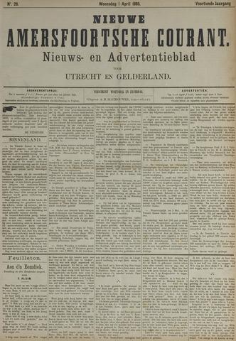 Nieuwe Amersfoortsche Courant 1885-04-01