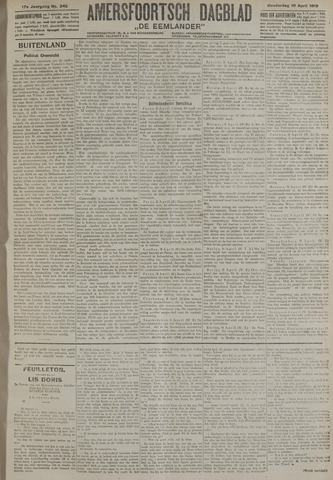 Amersfoortsch Dagblad / De Eemlander 1919-04-10