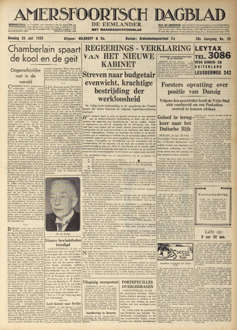 Amersfoortsch Dagblad / De Eemlander 1939-07-25