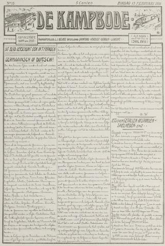 De Kampbode 1916-02-13