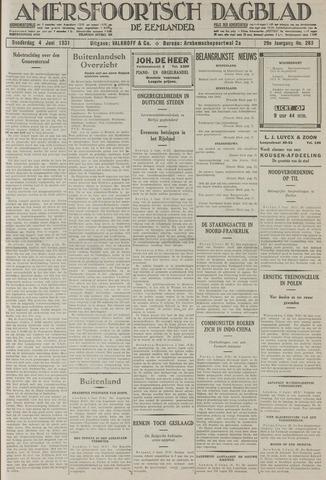 Amersfoortsch Dagblad / De Eemlander 1931-06-04