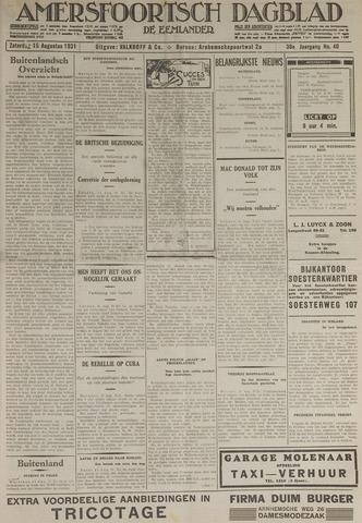 Amersfoortsch Dagblad / De Eemlander 1931-08-15