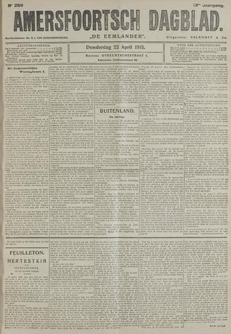 Amersfoortsch Dagblad / De Eemlander 1915-04-22