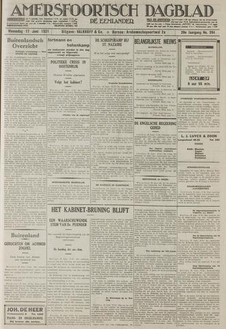 Amersfoortsch Dagblad / De Eemlander 1931-06-17