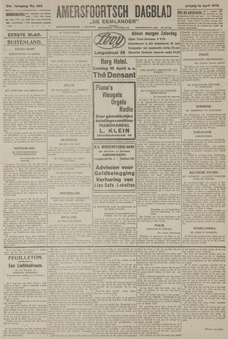 Amersfoortsch Dagblad / De Eemlander 1926-04-16