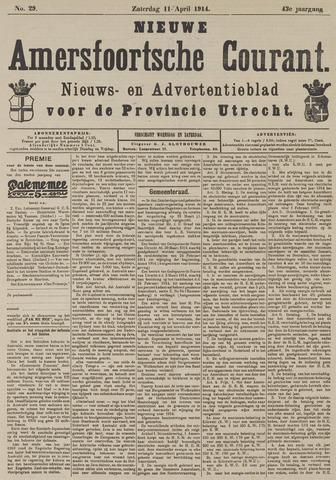 Nieuwe Amersfoortsche Courant 1914-04-11