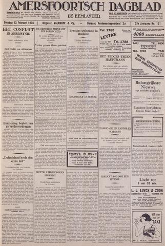 Amersfoortsch Dagblad / De Eemlander 1935-02-12