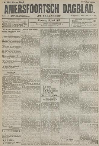 Amersfoortsch Dagblad / De Eemlander 1916-06-10