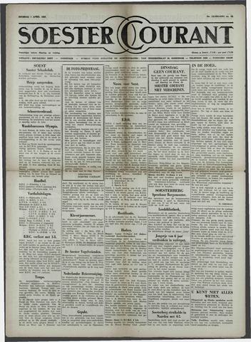 Soester Courant 1958-04-01