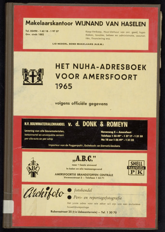 Adresboeken Amersfoort 1965