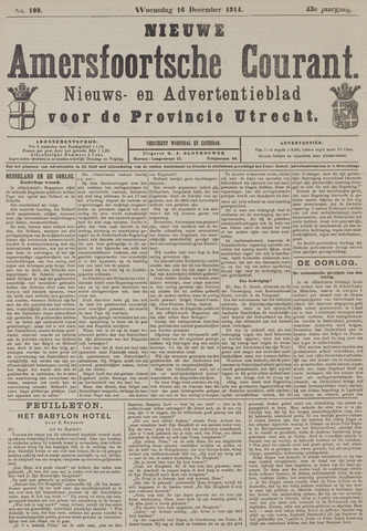 Nieuwe Amersfoortsche Courant 1914-12-16