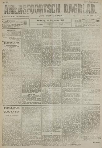 Amersfoortsch Dagblad / De Eemlander 1915-08-10