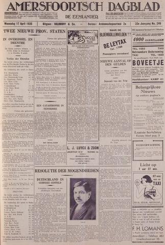 Amersfoortsch Dagblad / De Eemlander 1935-04-17
