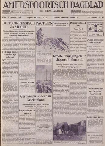 Amersfoortsch Dagblad / De Eemlander 1940-08-23