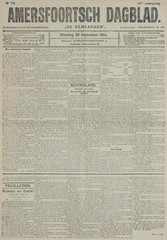 Amersfoortsch Dagblad / De Eemlander 1914-09-29