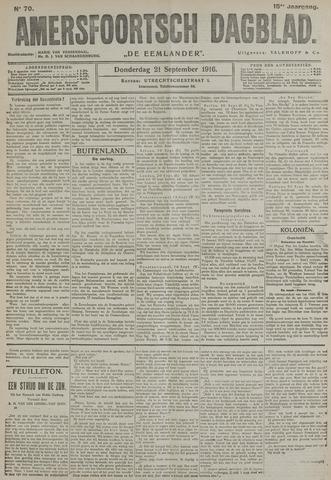 Amersfoortsch Dagblad / De Eemlander 1916-09-21