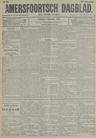 Amersfoortsch Dagblad / De Eemlander 1915-10-01