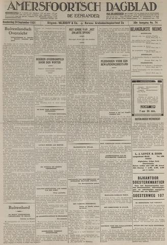 Amersfoortsch Dagblad / De Eemlander 1931-09-24