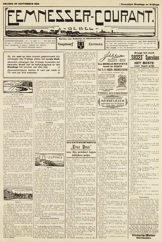 Eemnesser Courant 1924-09-26
