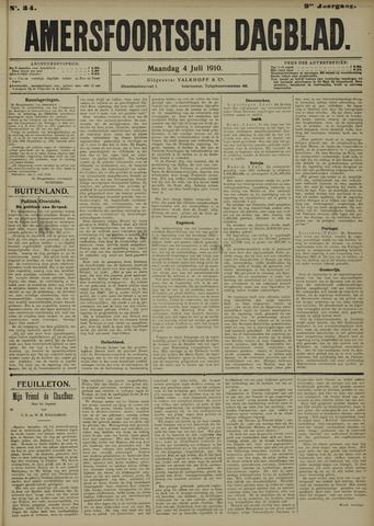 Amersfoortsch Dagblad 1910-07-04
