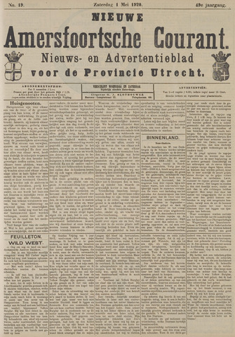 Nieuwe Amersfoortsche Courant 1920-05-01