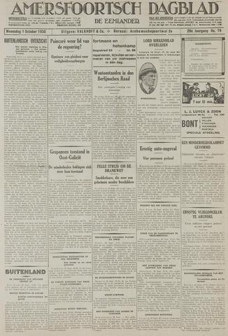 Amersfoortsch Dagblad / De Eemlander 1930-10-01