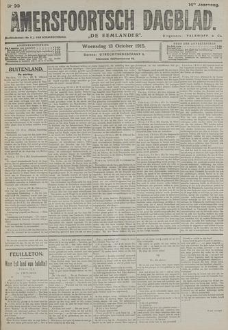 Amersfoortsch Dagblad / De Eemlander 1915-10-13