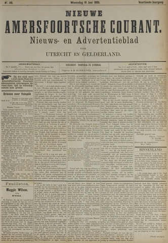 Nieuwe Amersfoortsche Courant 1885-06-10