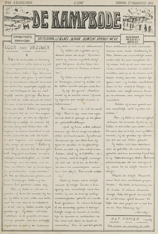 De Kampbode 1916-08-27