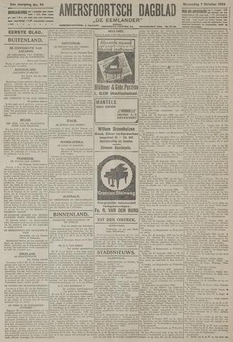 Amersfoortsch Dagblad / De Eemlander 1925-10-07