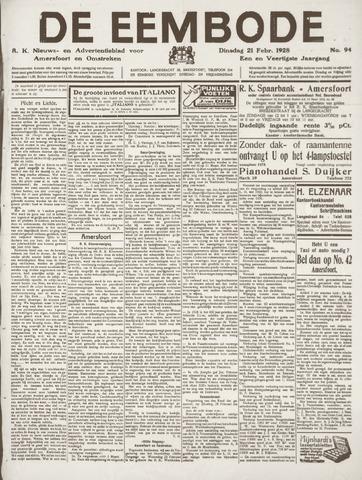 De Eembode 1928-02-21