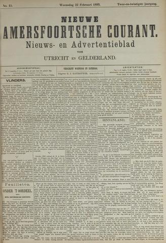 Nieuwe Amersfoortsche Courant 1893-02-22