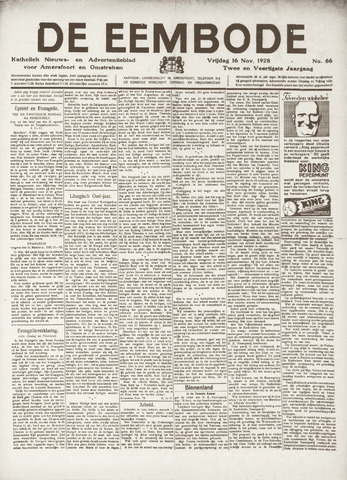 De Eembode 1928-11-16