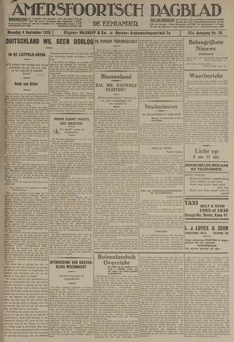 Amersfoortsch Dagblad / De Eemlander 1933-09-04