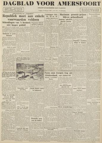 Dagblad voor Amersfoort 1947-02-21