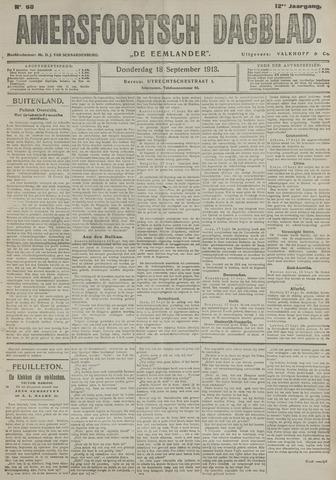 Amersfoortsch Dagblad / De Eemlander 1913-09-18