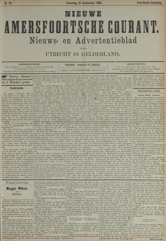 Nieuwe Amersfoortsche Courant 1885-09-19